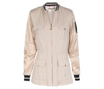 Bomber-canvasjacke Two-in-one Beige/gold