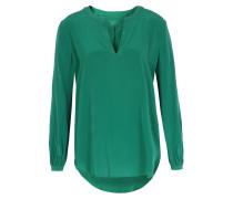 Seiden-Stretch Bluse Smaragdgrün
