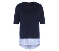Baumwoll-Pullover Layered-Look mit Hemd