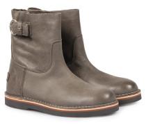 Boots Aus Gewachstem Strukturleder Sottobosco