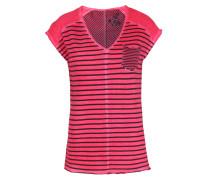 Gesteiftes Baumwoll-shirt In Fresh Pink