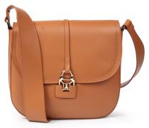 Ledertasche Saddle Bag Mit Breitem Schulterriemen Cognac