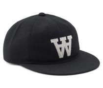 Cap Baseball mit Logo-Stitching Black