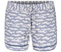 Viskose-shorts Itsu Mit Japanese-print Soft Indigo
