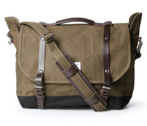 Messenger-bag Izzy Aus Canvas Waxed Olive