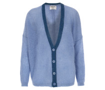 Strickcardigan Obambino im Mohair-Woll-Mix Himmelblau