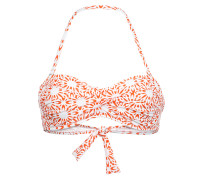 Bikini-top Mit Orange/weißem Print