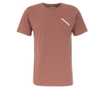 T-Shirt Chest Slash mit Print in Copper