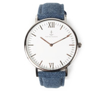 Armbanduhr Campus Canvas Blue