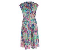Viskose-kleid Mit Floralem Print