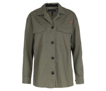 Baumwoll-hemdbluse Military-style Khaki