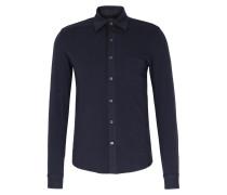 Jerseyhemd aus Pima-Baumwolle Navy
