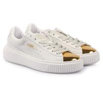 Veloursleder-sneaker Suede Platform Gold