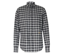 Kariertes Flanellhemd Aus Baumwolle Anthracite/gray