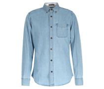 Baumwoll-jeanshemd Indigo