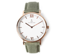 Armbanduhr Campus Canvas Olive
