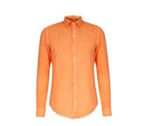 Leinenhemd Garment Dyed Orange