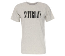 T-Shirt Saturdays Condensed mit Print Natural Heather