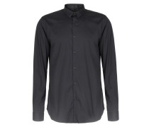 Stretch-cotton Button Down Hemd Black