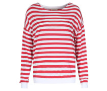 Gestreifter Pullover Enca Mit Viskose Rouge/blanc