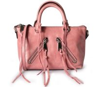 Ledertasche Distressed Micro Rose Silver