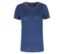Leinen-shirt Mit Ripp-details Indigo