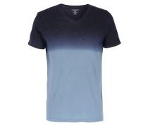 Leinen-Shirt mit Farbverlauf Dunkelblau