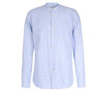 Gestreiftes Baumwoll-Hemd mit Brusttasche