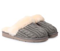 Lammfell-hausschuhe Cosy Knit Grey