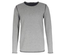 Baumwoll-pullover Mit Kontrast-details Grey