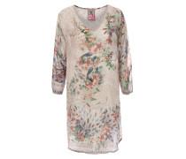 Tunika Ficher Blouse mit floralem Print Beige