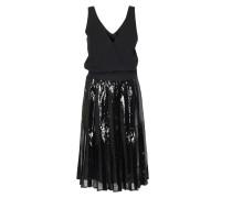 Kleid Mit Paillettenstickerei Schwarz