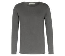 Baumwoll-Pullover mit Rollkante Schlamm