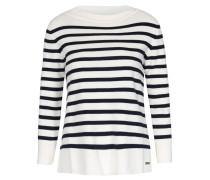 Gestreifter Pullover Milano Stitch Weiß Blau