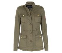 Baumwoll-jacke Im Military-stil Khaki