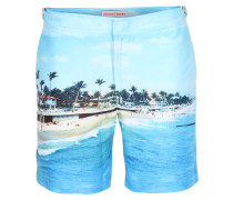 Bade-Shorts Bulldog mit Fotodruck Mid-Blue