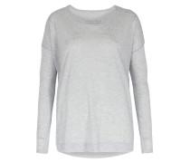Langarmshirt Aus Cashmere-modal Light Grey