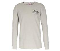 Printed Crew Neck Baumwoll-sweatshirt Oat Marle