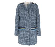 Jacquard-Mantel Blau