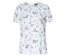 Viskose-Bluse mit Blumenprint Creme