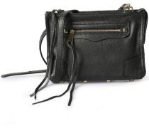 Ledertasche Regan Crossbody Black Gold