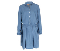 Lyocell-Hemdblusen-Kleid Clace in Denim-Optik