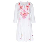 Baumwoll-Kleid Dascha mit Blumenstickerei