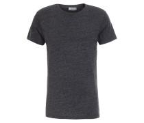 T-Shirt Meliert in Dunkelgrau