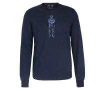 Baumwoll-Sweater mit Logo-Print