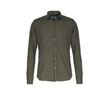 Slim-fit Hemd Aus Baumwollmischung Mit Elasthan