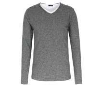 Langarmshirt Im Wollmix Layered Graphit