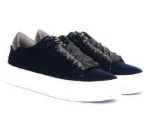 Velvet Sneakers mit Schmuck-Detail Dunkelblau
