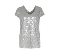 Shirt Mit Silbernem Tropical-print