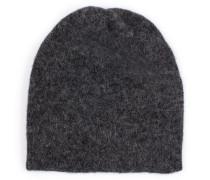 Beanie-Mütze im Woll-Mix Anthrazit